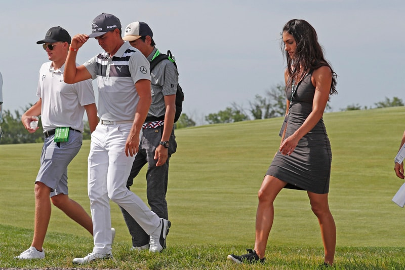 Rickie Fowler and Allison Stokke
