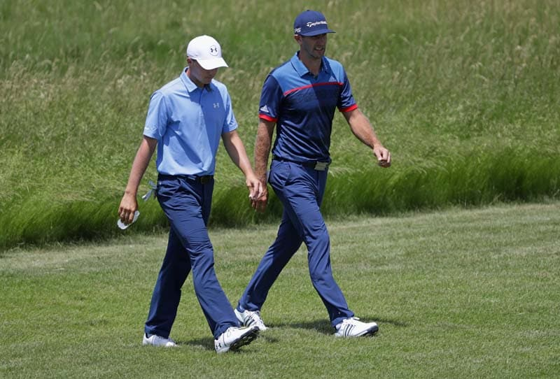 Jordan Spieth and Dustin Johnson