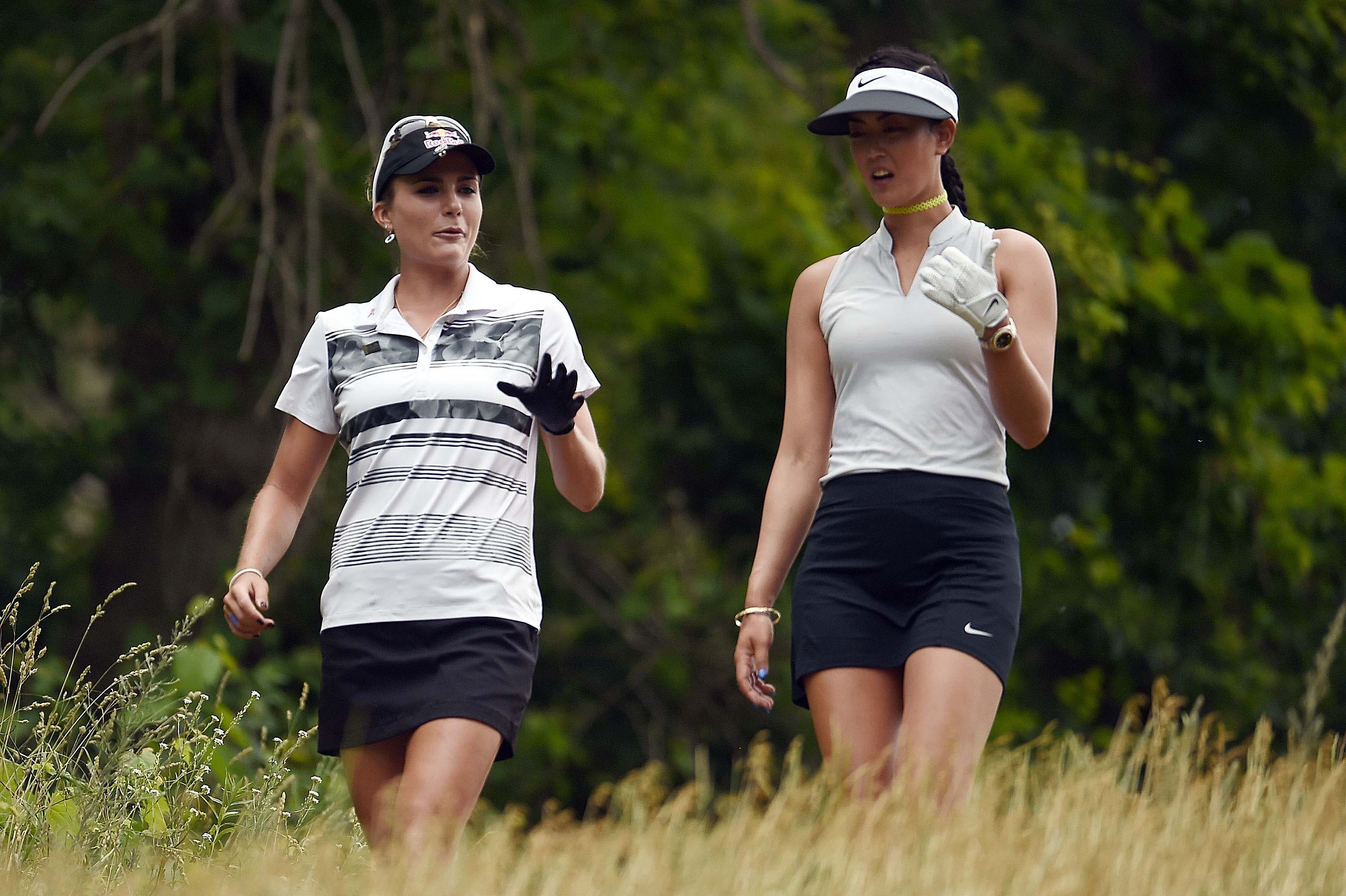 Lexi Thompson and Michelle Wie