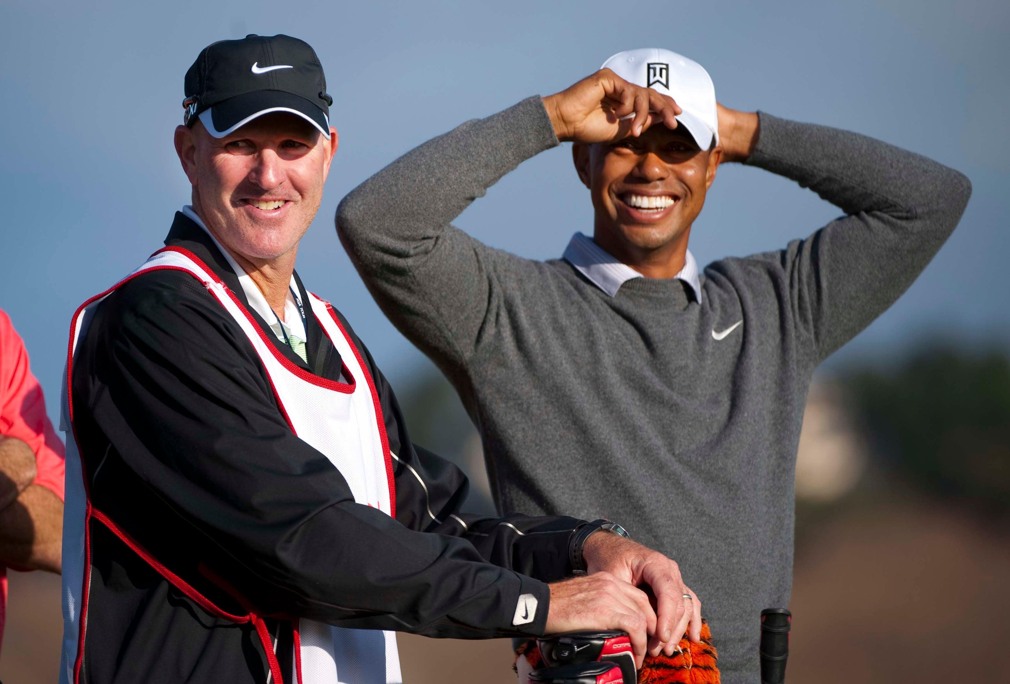 Tiger Woods and Joe LaCava