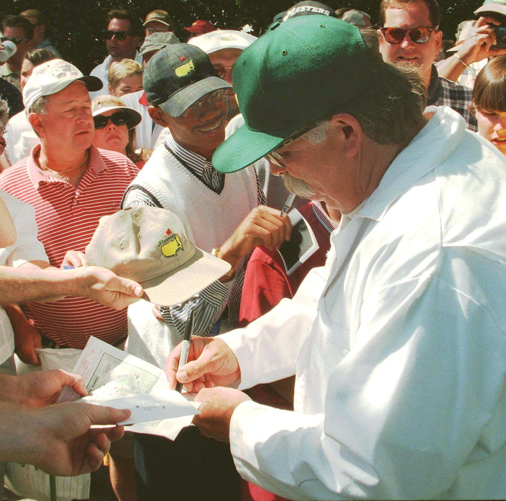 Tiger Woods and Mike 'Fluff' Cowan