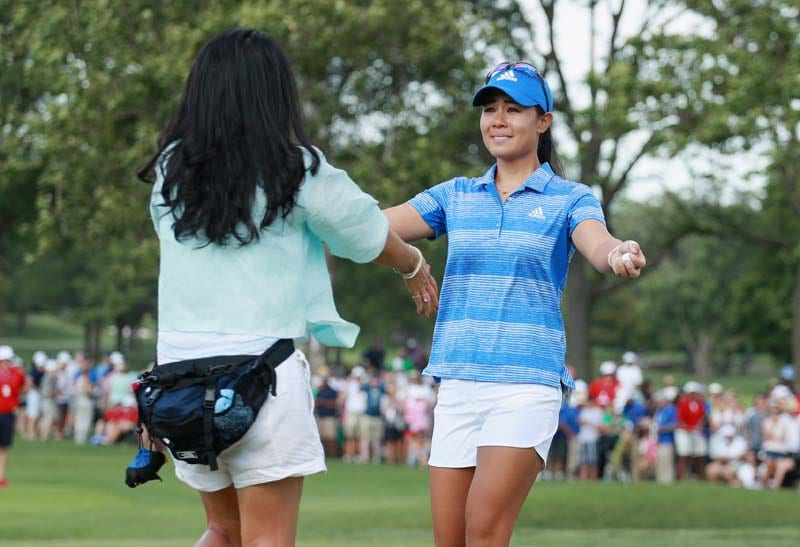 Danielle Kang and her mother