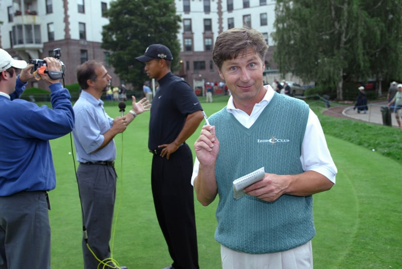 Brandel Chamblee and Tiger Woods