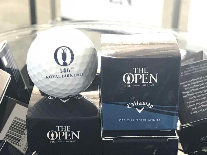 Single Open golf ball