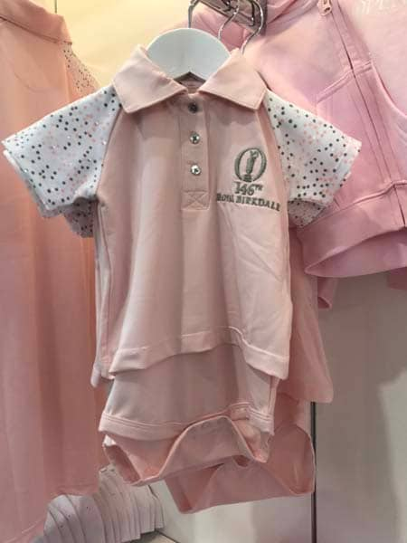 Open baby clothes