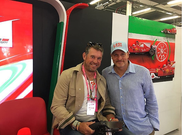 Lee Westwood and Woody Harrelson