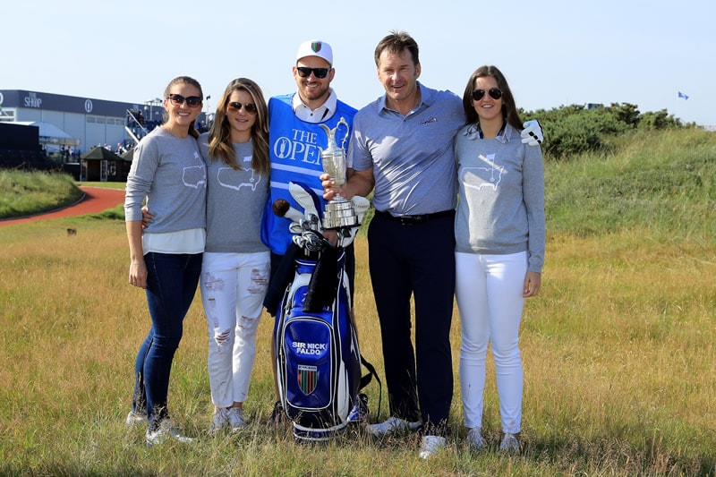 Nick Faldo and family