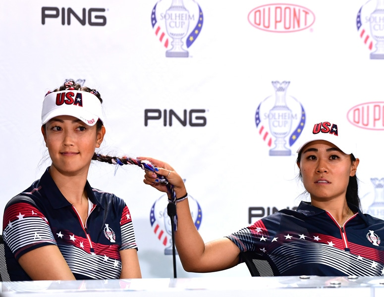 Michelle Wie and Danielle Kang