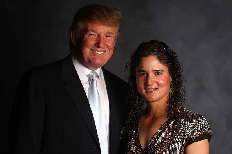 Donald Trump and Lorena Ochoa