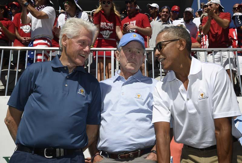 Bill Clinton, George W. Bush and Barack Obama, 2017 Presidents Cup