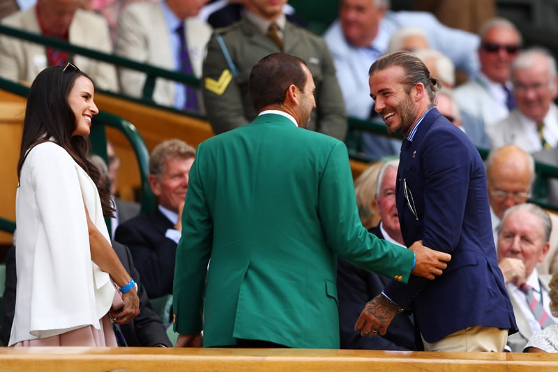 Angela Akins, Sergio Garcia and David Beckham