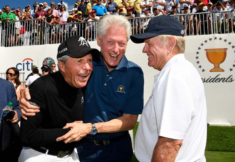 Gary Player, Bill Clinton and Jack Nicklaus