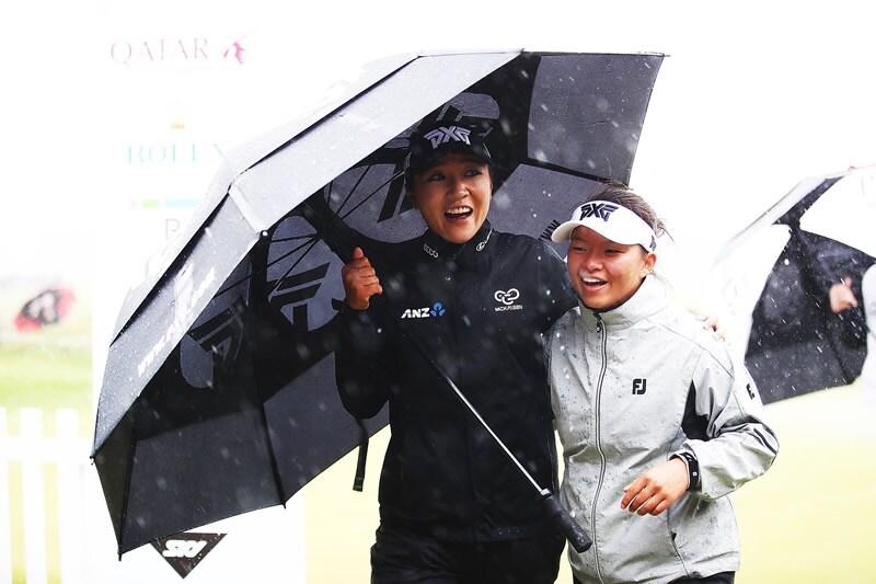 Lydia Ko and Megan Khang