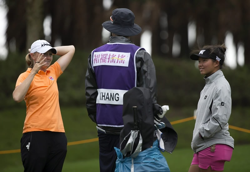 Stacy Lewis and Megan Khang
