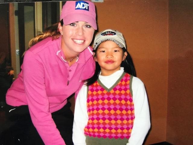 Paula Creamer and Megan Khang