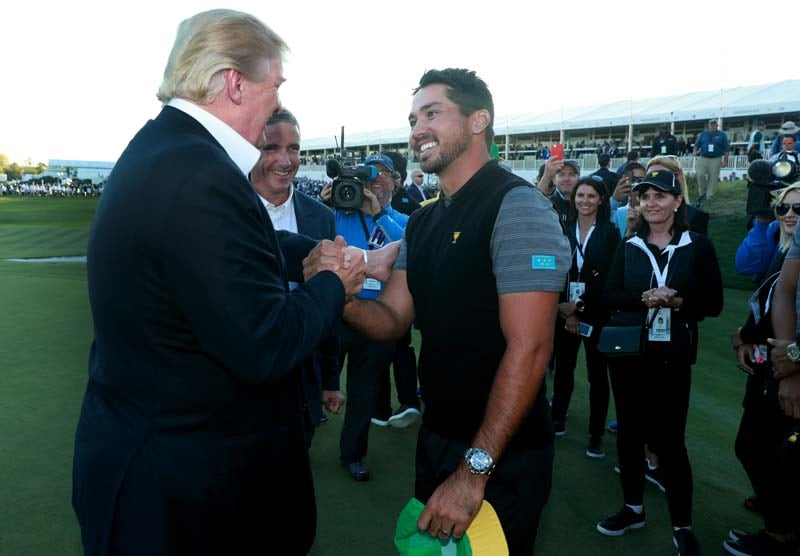Donald Trump and Jason Day