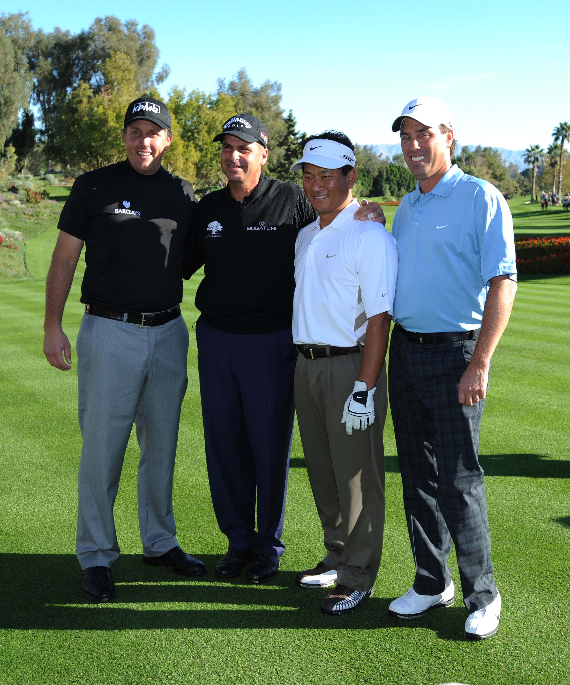 Phil Mickelson, Rocco Mediate, K. J. Choi and Stephen Ames, 2008
