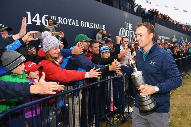 Spieth survives ordeal at 13, wins Open