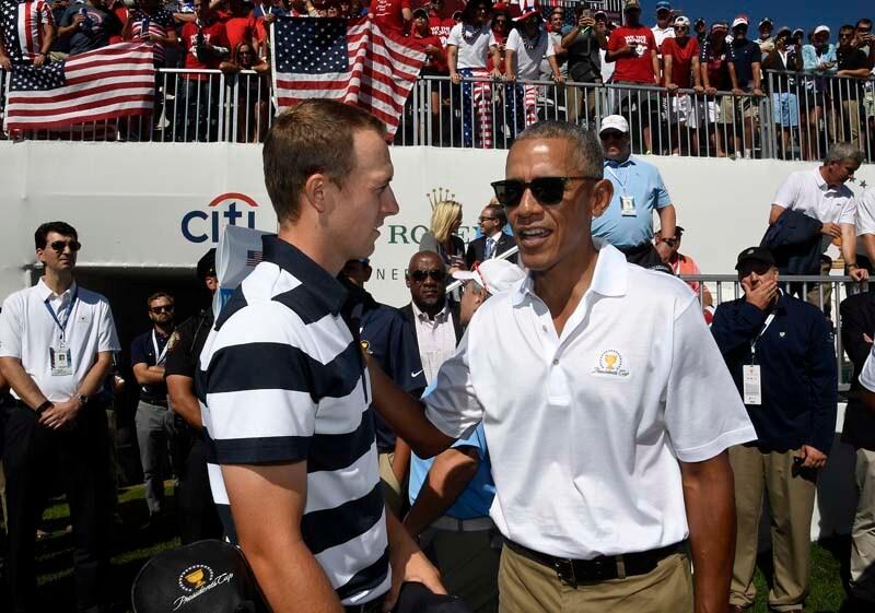 Spieth loses match to Obama after alien trash talk