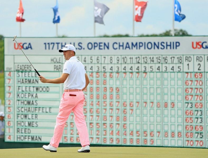 Justin Thomas shoots Saturday 63 at the U.S. Open