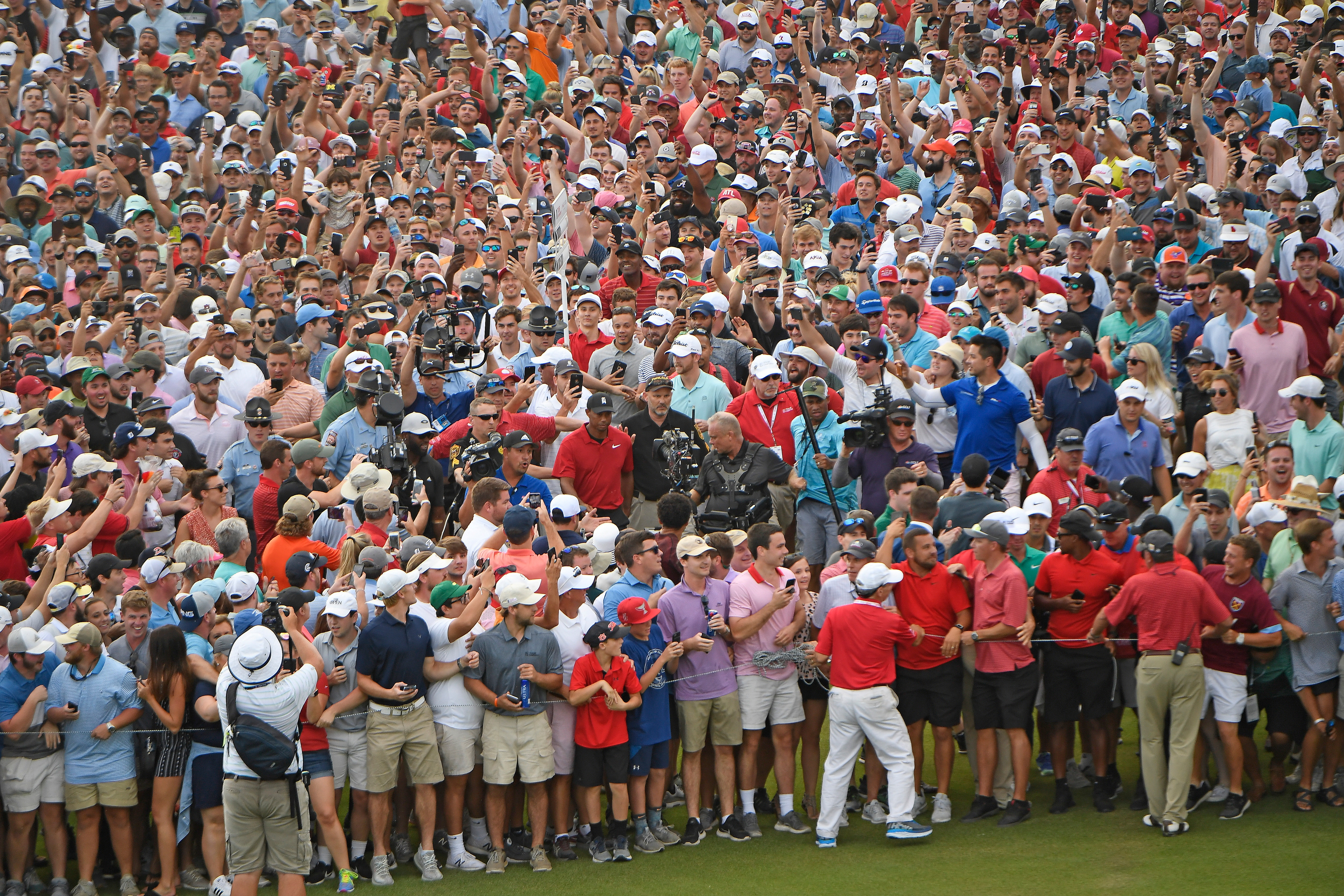 Tiger Woods at the 2018 Tour Championship