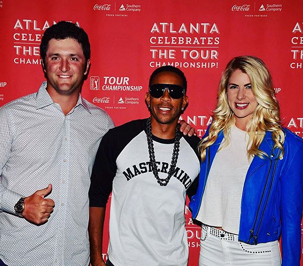 Jon Rahm, Kelley Cahill and Ludacris