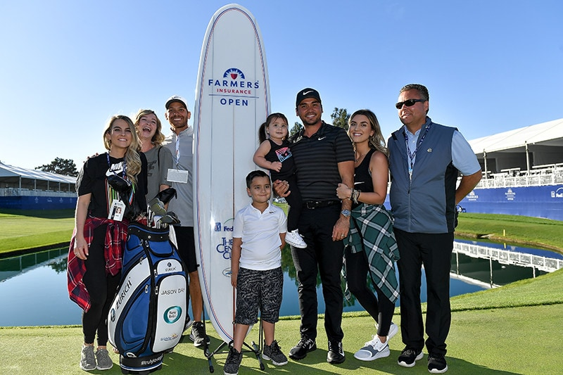 Jason Day, family and friends