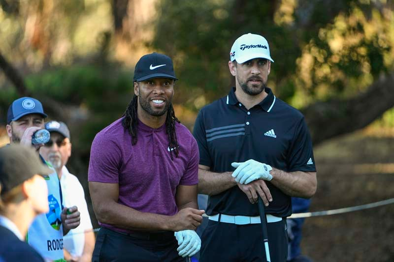 Larry Fitzgerald and Aaron Rodgers