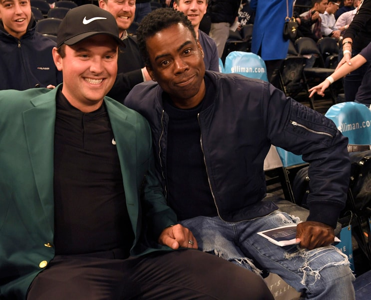 Patrick Reed and Chris Rock