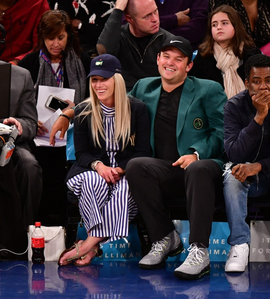 Patrick Reed, wife and Chris Rock