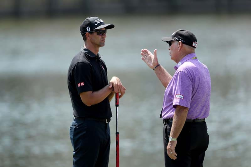 Adam Scott and Butch Harmon