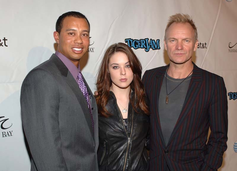 Tiger Woods, Anna Nalick and Sting