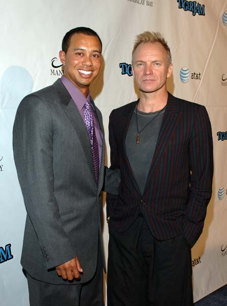 Tiger Woods and Sting