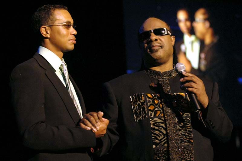 Tiger Woods and Stevie Wonder