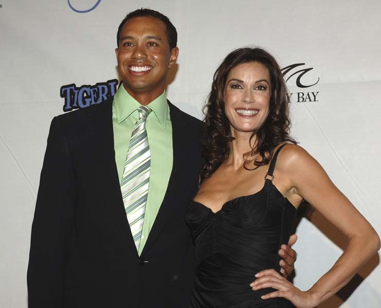 Tiger Woods and Teri Hatcher