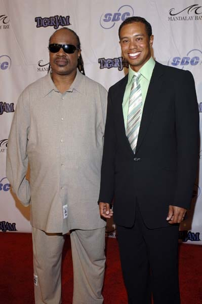Stevie Wonder and Tiger Woods