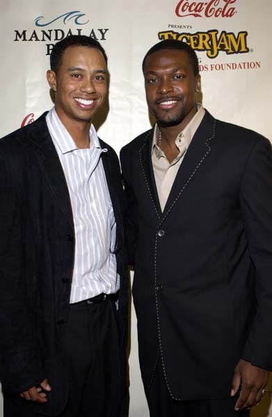 Tiger Woods and Chris Tucker