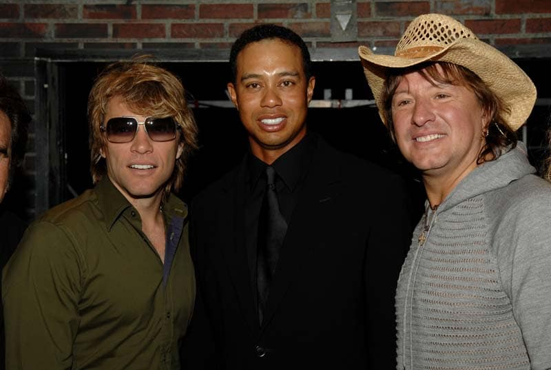 Jon Bon Jovi,Tiger Woods and Richie Sambora
