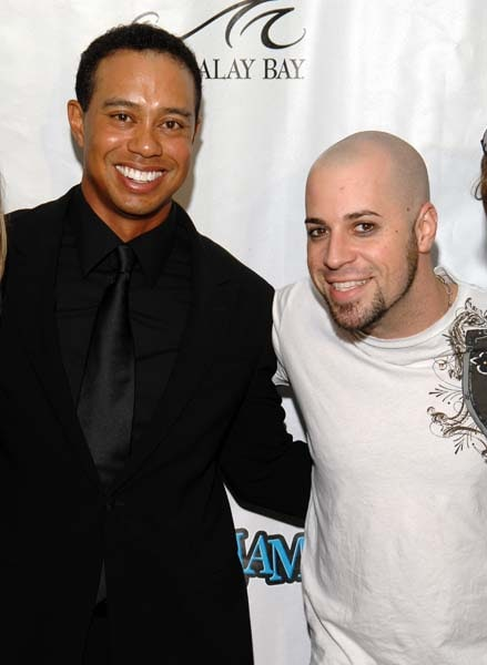 Tiger Woods and Chris Daughtry