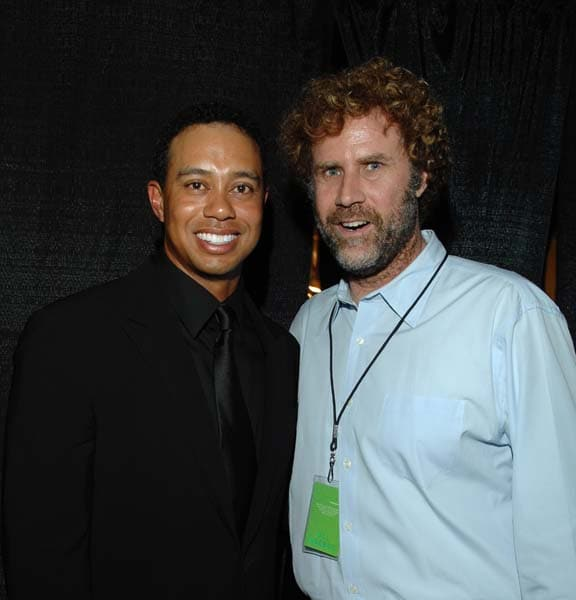 Tiger Woods and Will Ferrell