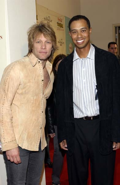 Jon Bon Jovi and Tiger Woods