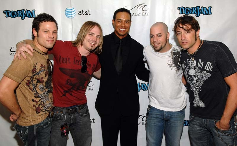 Tiger Woods and Daughtry