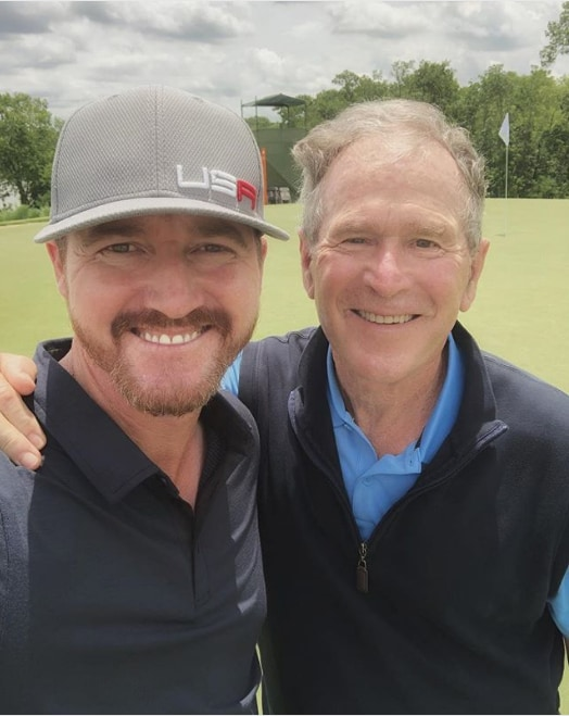 Jimmy Walker and George W. Bush