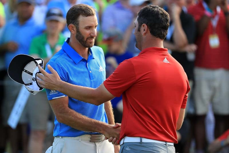 Dustin Johnson and Jon Rahm