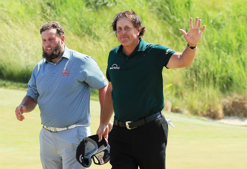 Andrew Johnston and Phil Mickelson
