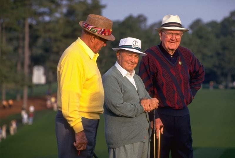 Sam Snead, Gene Sarazen, and Byron Nelson