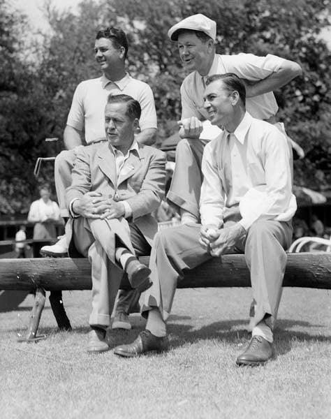 Bobby Jones, Ben Hogan, Jimmy Demaret, and Byron Nelson