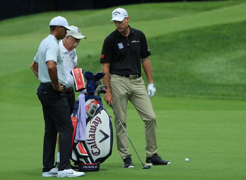 Tiger Woods, Mike 'Fluff' Cowan, Jim Furyk