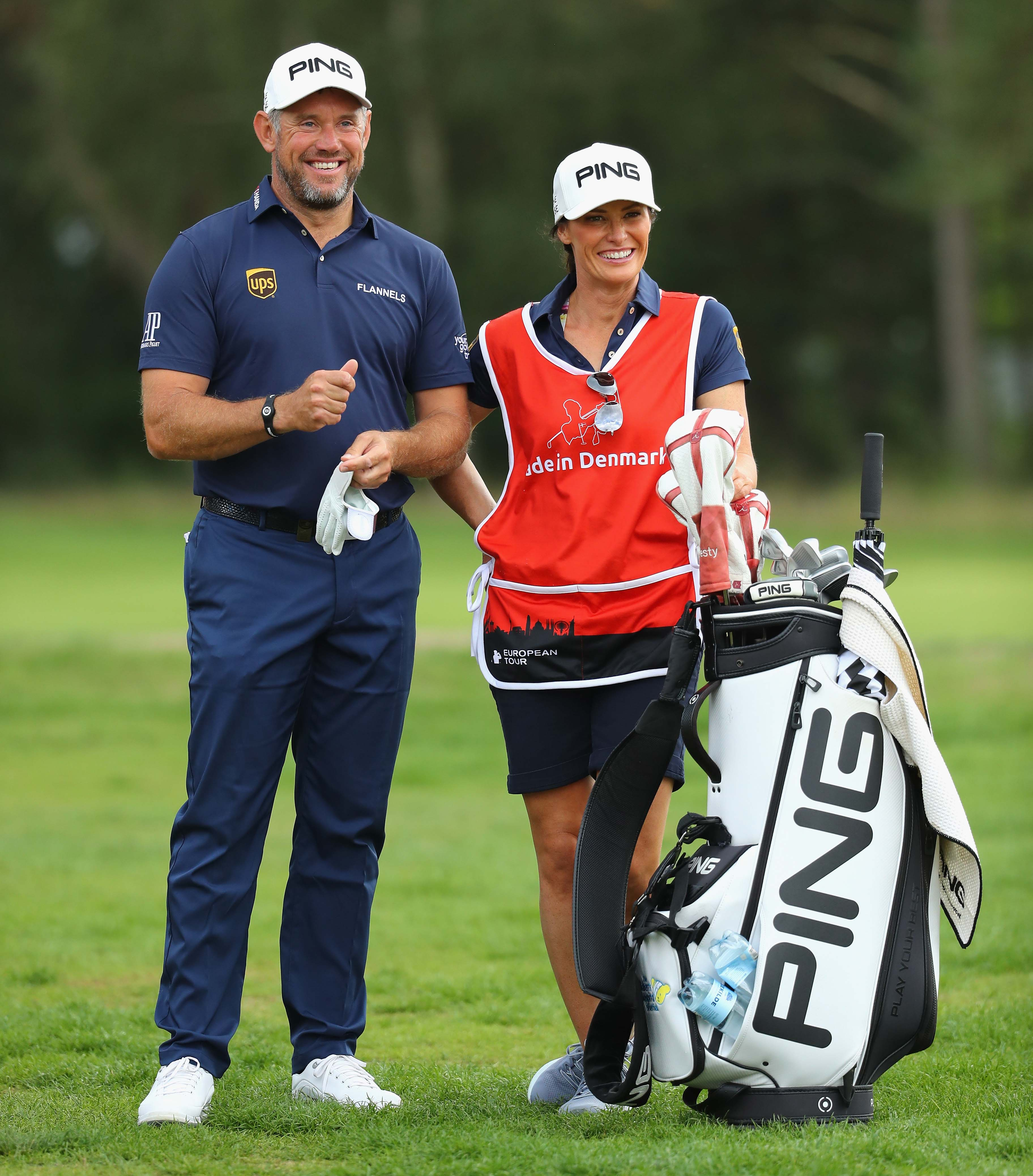 Lee Westwood and Helen Storey