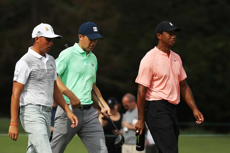 Rickie Fowler, Jordan Spieth, Tiger Woods